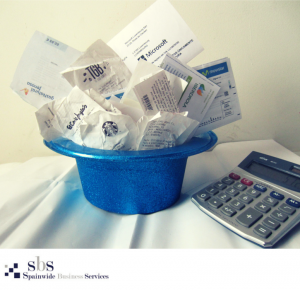 Organise your receipts by month and category to facilitate managing your business expenses